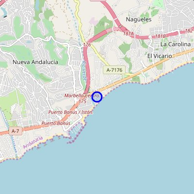 Map Marbella Golden Mile-Marbella-Spain